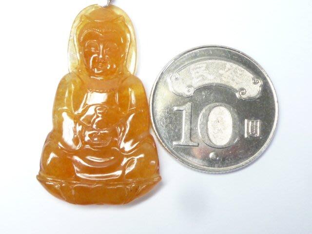 【連漢精品】天然緬甸翡翠A貨 玻璃種紅翡翠  寶瓶觀音玉墜 玻璃種 觀音玉墜 乾淨透明