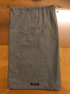 二手 MIU MIU 真品 原廠 防塵套 束口袋 鞋套 包套 22*34cm 灰色