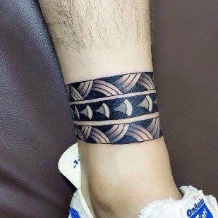 【萌古屋】圖騰線條環形圖 - 防水紋身貼紙手臂腳踝環形刺青貼紙A70 K72