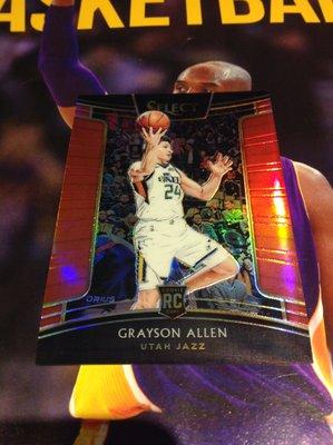 18 19 Select - Grayson Allen 限量/199 紅亮面新人RC平行卡