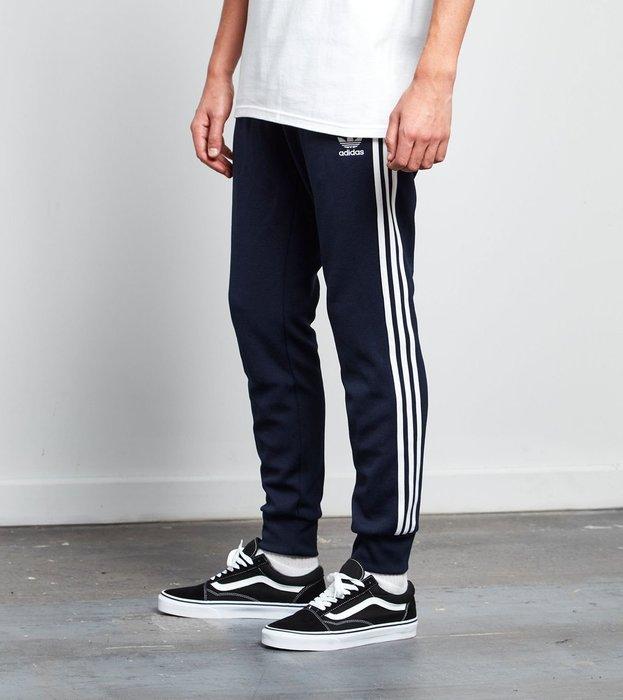 【Simple Shop】現貨Adidas Superstar縮口褲 Jogger Pants三條線 深藍 AJ6961