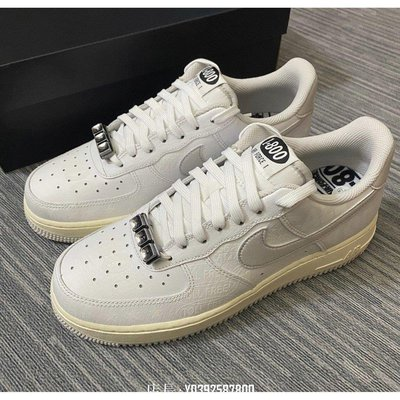 "正品全新款 Nike Air Force 1 '07 Premium ""Toll Free"" 白灰反光 CJ1631-100休閒運動鞋"