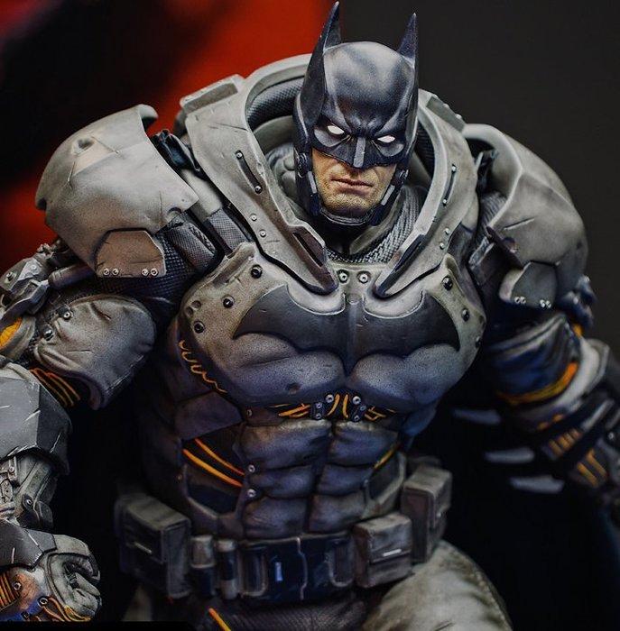【預購】GK定制,Batman阿甘起源蝙蝠俠GK手辦雕像熱能蝙蝠俠模型ex版  1/4尺寸,總高80CM