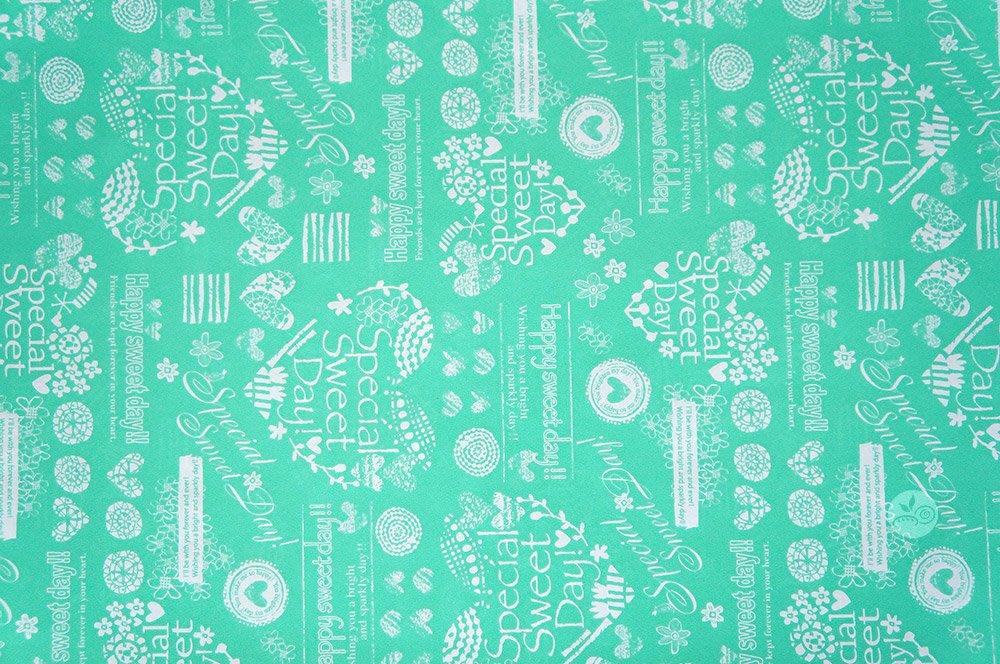 日本包裝紙_Cafeteria湖水綠_2417384◎非食品包裝材料.包裝紙.愛心.禮品包裝.湖水綠