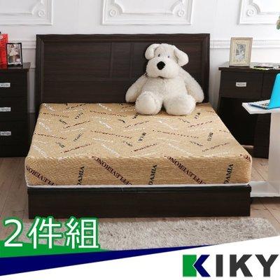 【床組】雙人加大6尺-【凱莉】木色超值房間2件組(床頭片+床底)~台灣自有品牌-KIKY~Kelly