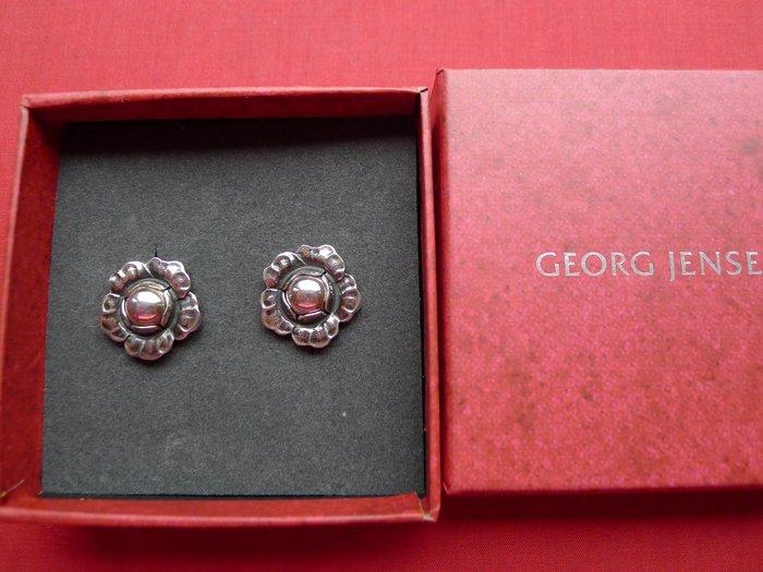 【喬治傑生GEORG JENSEN 系列】喬治傑生2002年夾式銀石耳環