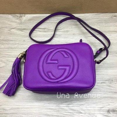 Una Avenue* 巴黎代購 GUCCI soho disco Leather bag 流蘇斜背肩背包 正品