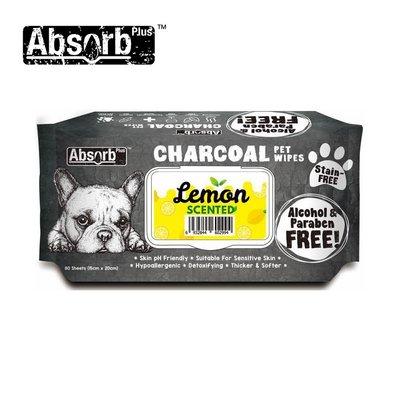 SNOW的家【訂購】Absorb Plus 寵物用活性碳濕紙巾 6種香味-檸檬香 (11090046