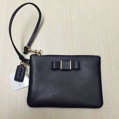 全新正品  COACH 新款質感超好~~藍色荔枝皮 萬用手拿包/手提小包/零錢包/手機包