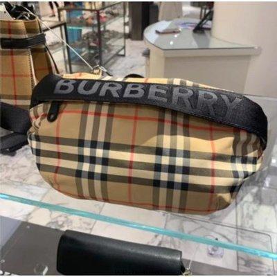 Burberry 男女logo款 博伯利 經典格紋腰包 現貨二手