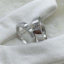 對戒純銀包白金1克拉男戒+0.5克拉女戒一對戒指兩支特價不退色 德國工藝 高碳仿真鉆石鉑金質感肉眼看就似真鑽 結婚婚戒 FOREVER鑽寶