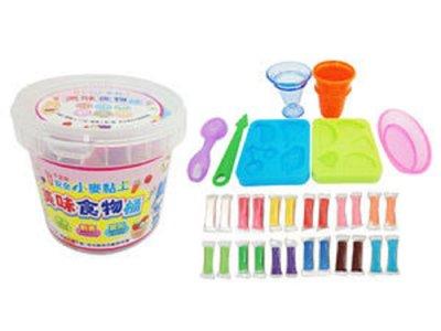 兒童無毒黏土-忍者兔安全小麥黏土12色《美味食物桶》~《歡樂派對桶》