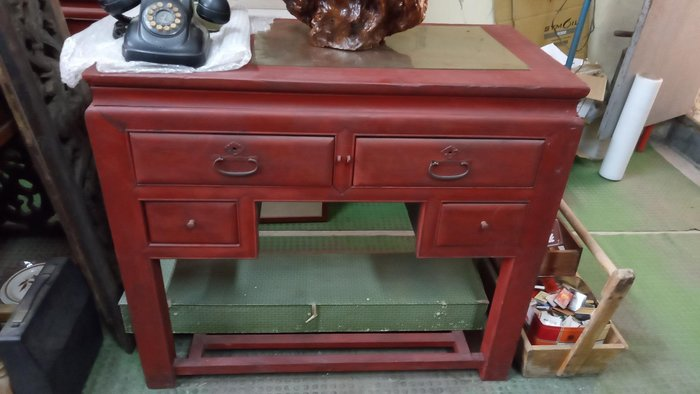 *阿柱的店*台灣老傢俱 書桌 辦公桌 掌櫃桌