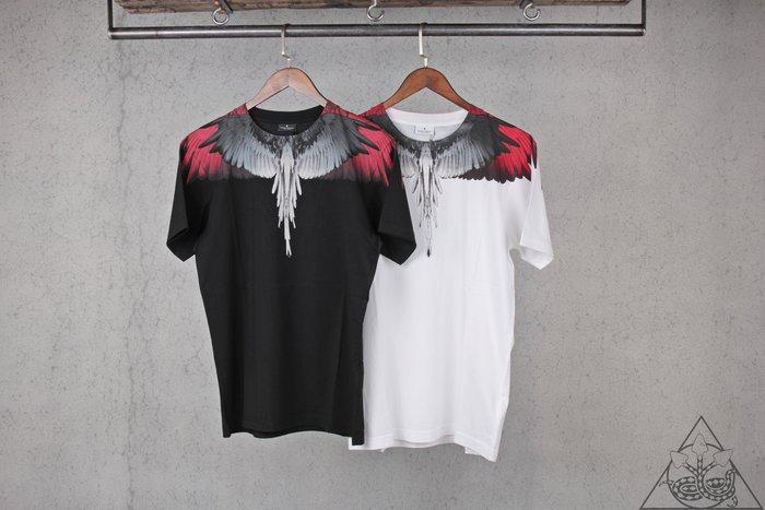 【HYDRA】Marcelo Burlon White Red Wings T-shirt 翅膀 羽毛 短T【MB20】