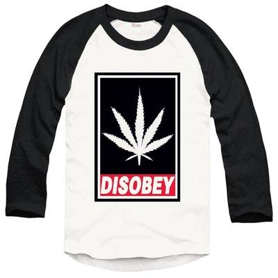 DISOBEY-WEED七分袖T恤 2色 大麻葉潮流滑板街頭dope huf obey風格t-shirt 390