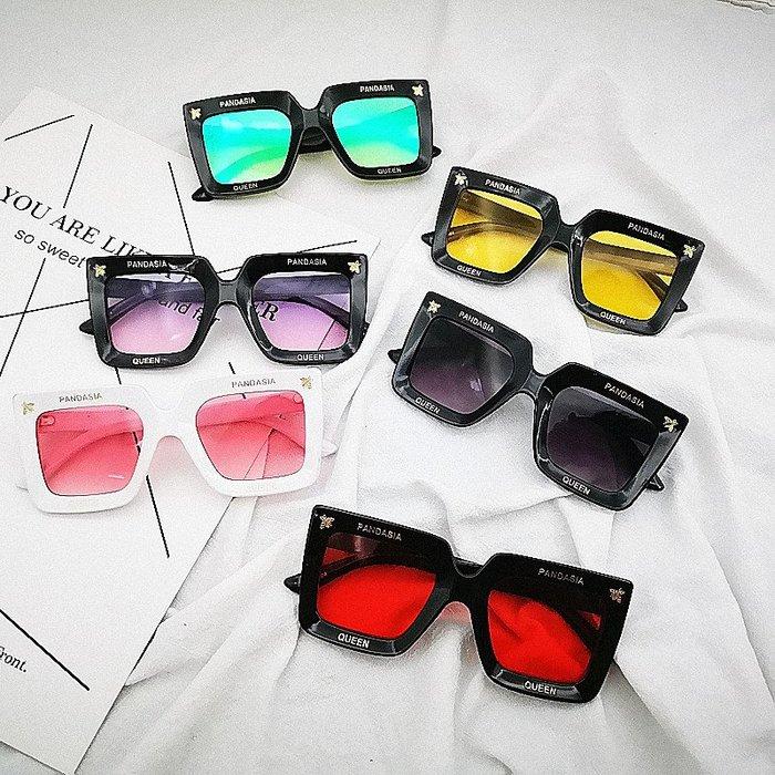 SX千貨鋪-兒童太陽鏡朋克復古小方框墨鏡親子海洋鏡片男女寶寶時尚眼鏡潮#男女童太陽鏡#可愛#眼鏡#時尚