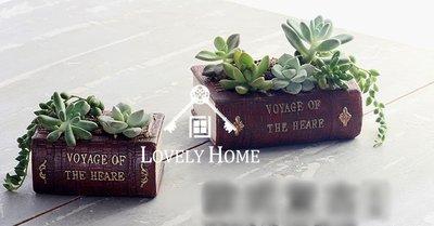 (台中 可愛小舖)日式鄉村風紅色書本造型花器花盆盆栽盆器多肉種植小植物花圃花園後院庭院花店微景觀陽台窗邊美觀居家植物園