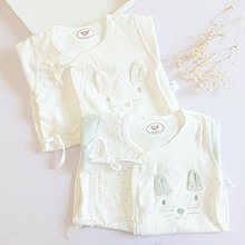 新生兒衣服0-3個純棉寶寶哈衣蝴蝶衣和尚服嬰兒連身衣