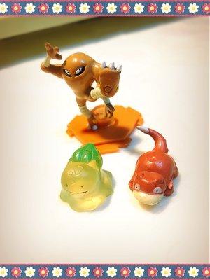 妍心啟航~可愛妙蛙 與 呆熊和 空手道 造型玩具小物三個 一元起標