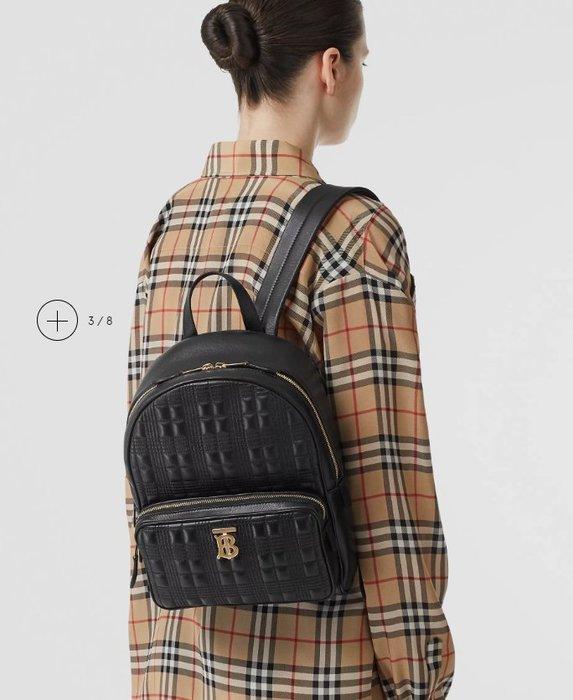 Burberry博伯利Thomas中性款衍縫方格拉鏈後背包肩背包雙肩包戶外登山包多色