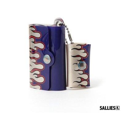 GOODFORIT / 日本SALLIES Minimal Wallet PocketPal火燄迷你錢包/銀藍