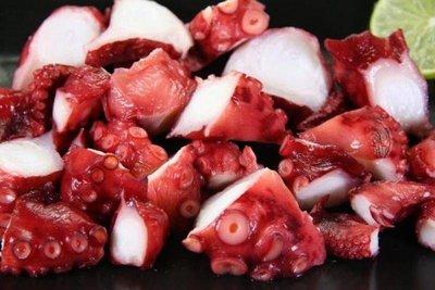 【免煮小菜】熟章魚切塊/約200g~解凍即可食用,可做沙拉或章魚燒,方便好吃