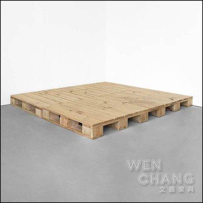 訂製品 工業風木棧板床架 (無床頭片) 客製 CU070 *文昌家具*