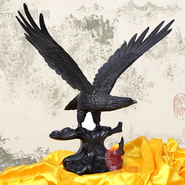 【凡了居】純銅老鷹擺件銅質雄鷹工藝品大號辦公家居裝飾品開業禮品 雙福327