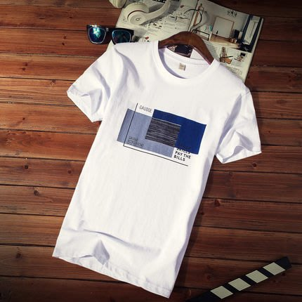 [C.M.平價精品館]M~5XL簡單有型舒適帥氣圓領棉質短袖T恤  黑白灰可選  加大碼