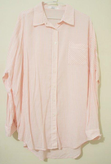 全新 MOSSY 日本購入 B530  - 男朋友式寬鬆的襯衫 (紅白線條)