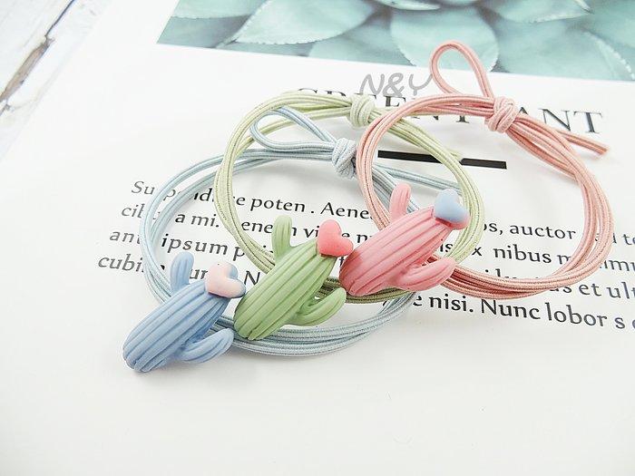 【N&Y】糖果色俏皮可愛仙人掌髮圈髮飾髮繩兒童髮圈馬尾皮筋☆HR10