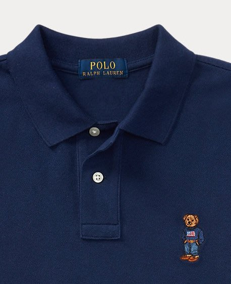 POLO Ralph Lauren 短袖 限量POLO衫 熊熊系列 青年款 藍色 美國潮踢屋