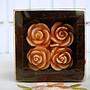 ~ 蘇菲亞精品傢飾~ 浮雕玫瑰粉紅色禮盒式蠟燭...
