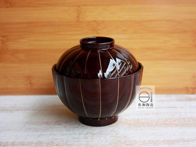 +佐和陶瓷餐具批發+【XL07054-1金線紋吸物碗組-日本製】日本製 漆器 食器 工藝品 漆器碗 蓋碗 熟食 定食