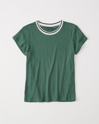 Maple麋鹿小舖 Abercrombie&Fitch * AF 綠色休閒短T *  ( 現貨L號 )
