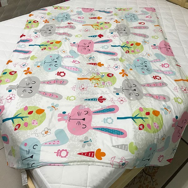 【芃云生活館】百貨專櫃品牌  100%精梳棉兒童4x5童涼被  可愛兔