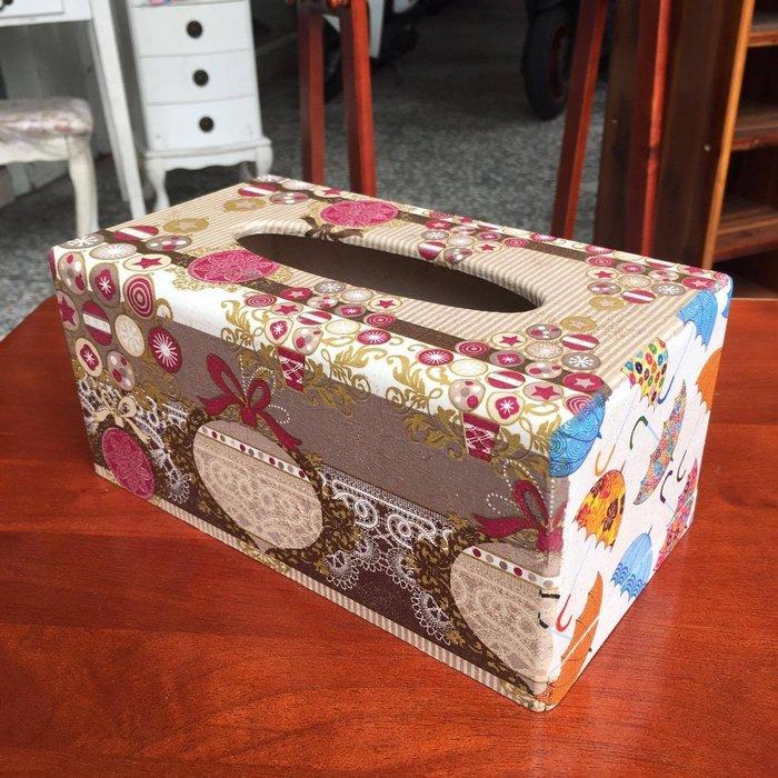 精品|Decoupage蝶谷精品藝術面紙盒-C(面紙/紙巾盒/開店/ZAKKA/雜貨/設計/手工/IKEA/民宿)