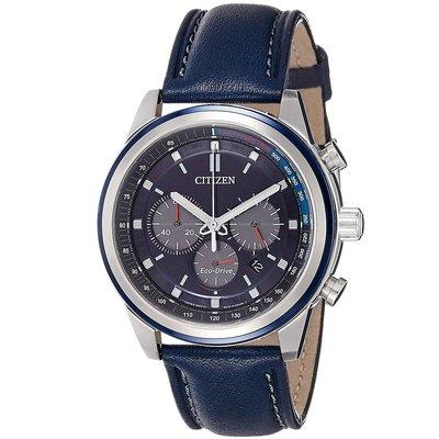 CITIZEN CA4031-07L 星辰錶 手錶 Eco-Drive 光動能 43mm 藍面盤錶帶 男錶 台北市