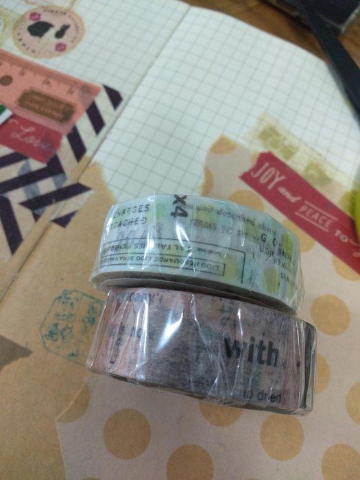 【R的雜貨舖】紙膠帶分裝 非整捲 YOHAKU ヨハク 復古斑駁拼貼(2款1組)