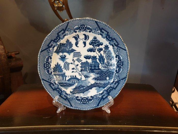 【卡卡頌 歐洲跳蚤市場/歐洲古董】※活動特價※英國老件_青花瓷 藍白瓷 風景 典雅 瓷盤 歐洲老瓷器 收藏p1465 ✬