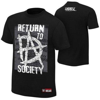 WWE摔角衣服 Dean Ambrose Return to Society 迪安回歸社會黑色短袖T恤 買三免運
