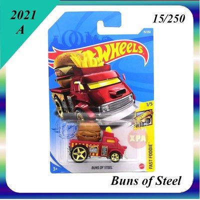 ^.^飛行屋(全新品)Hot Wheels 風火輪小汽車 合金車//漢堡薯條車 BUNS OF STEEL(漢堡車)