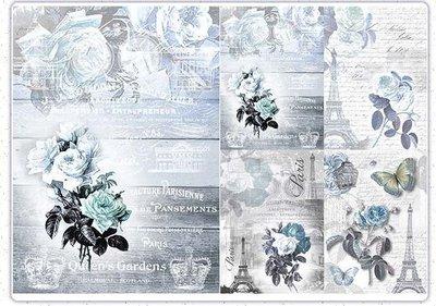 波蘭 Decoupage Paper(專用紙)A3編號PL-D-0536~蝶古巴特 餐巾紙拼貼 彩繪 黏土DIY手作材料