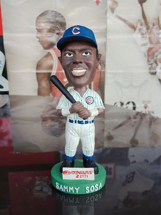 《金塊》MLB小熊隊 SAMMY SOSA 搖頭公仔 限量 送球卡 收藏 DONRUSS 2001