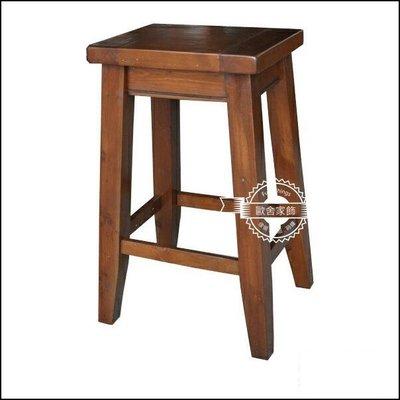 南歐鄉村風 復古仿舊實木高腳椅吧檯椅 原木小邊桌 中島板凳工作椅另有客廳組餐廳組房間組  【【歐舍家飾】】