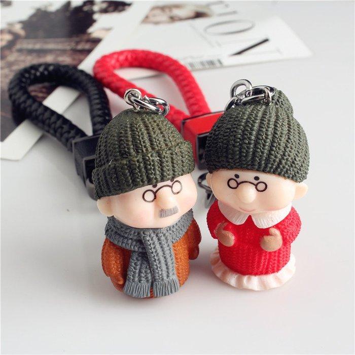 預售款-LKQJD-可愛浪漫情侶鑰匙扣掛件 創意3D立體娃娃汽車鑰匙鏈卡通結婚禮品