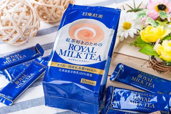微笑小木箱『合法進口 中文標籤』ℕ𝕖𝕨 日東紅茶 日東皇家奶茶  岩鹽焦糖奶茶 白桃果汁