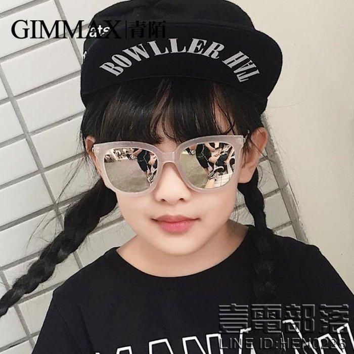 青陌男女兒童眼鏡復古炫彩太陽鏡小孩旅游墨鏡防紫外線偏光鏡時尚(送鏡盒)