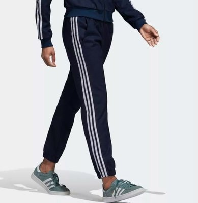【Dr.Shoes 】Adidas Cuffed Track Pants 女裝 深藍 運動休閒 長褲 DH3121