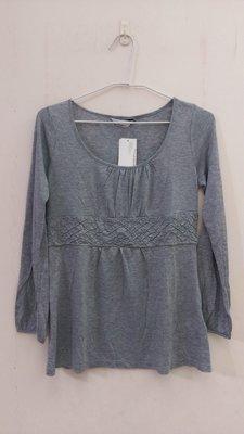 全新日本Clear Impression 灰色七分袖上衣